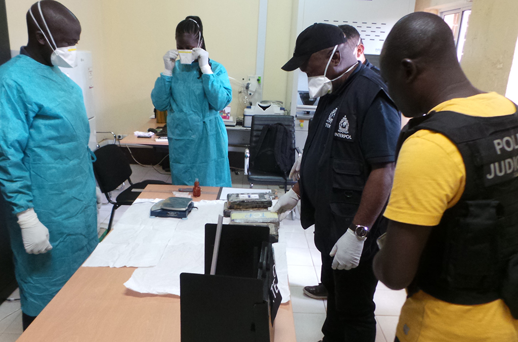 The INTERPOL team assisted national authorities in Guinea Bissau investigate one of the country's largest ever drug seizures.