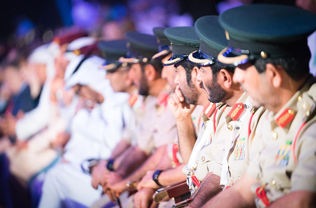 Senior UAE police officials at the 87th General Assembly.
