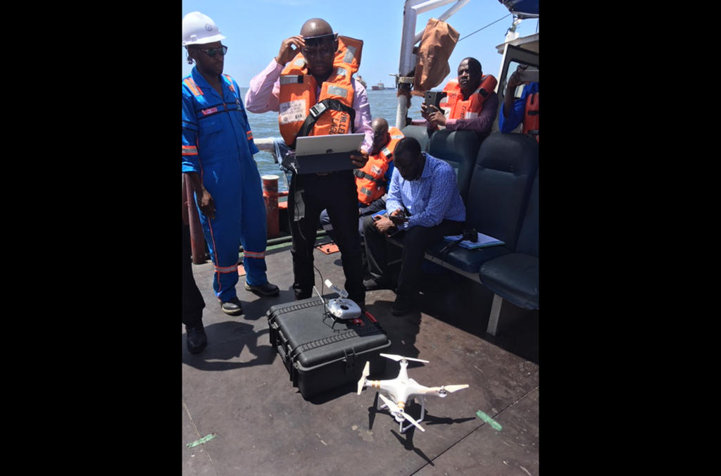 Innovative technologies permitted authorities to detect offences, such as here in Nigeria where drones were used