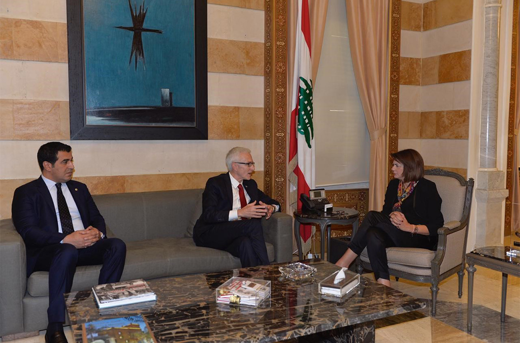On his first official mission to Lebanon, INTERPOL chief Jürgen Stock met with the Minister of the Interior Raya Haffar El Hassan.