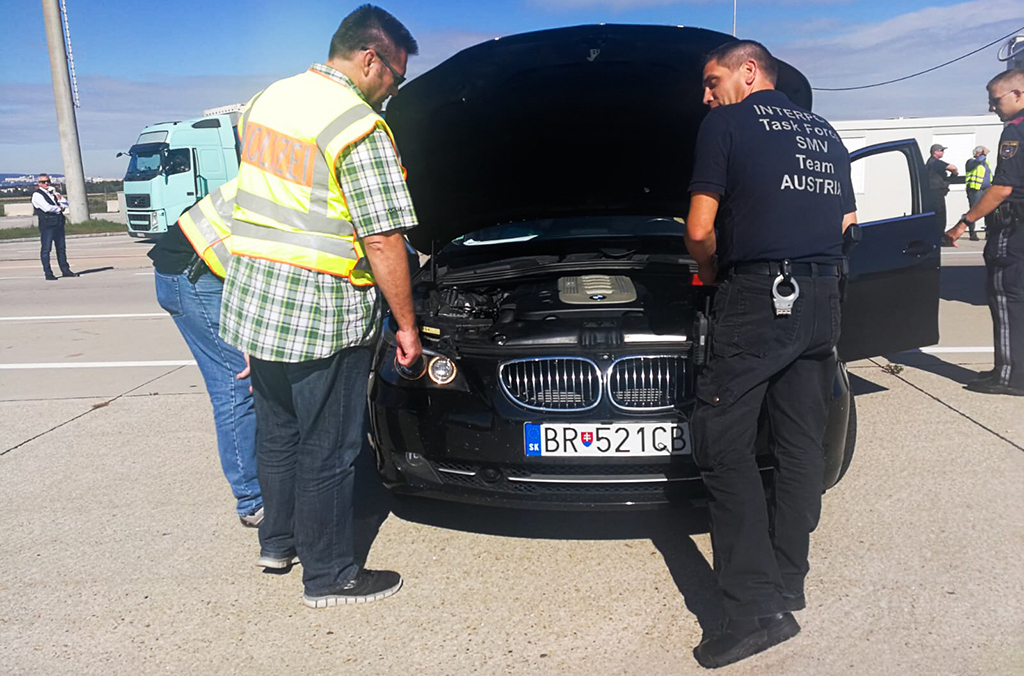 The operations targeted the smuggling of stolen vehicles, spare parts and document fraud.