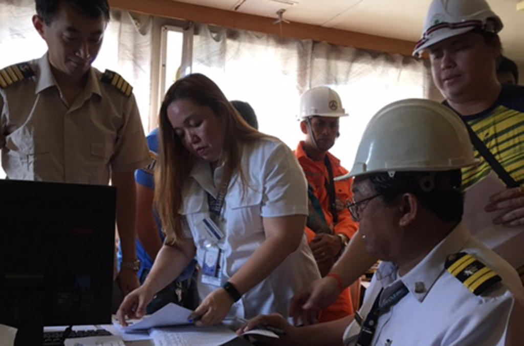More than 5200 inspections, like this vessel inspection in Cebu port (Philippines) resulted in over 185 investigations