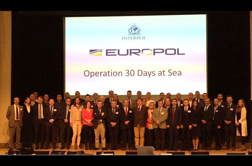 Operation 30 Days at Sea was coordinated in close partnership with Europol