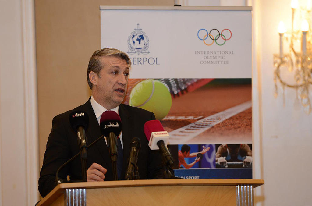 The manipulation of sports competitions has become a mechanism for profit of organized crime structures, said José de Gracia, INTERPOL Assistant Director, Criminal Networks Sub-Directorate.