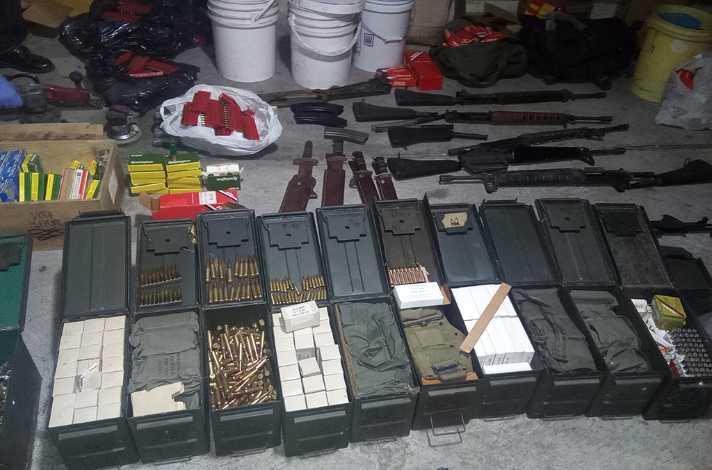 In Panama, an anonymous tip led police to a cache of ammunition, firearms and gallons of chemical and explosive materials.