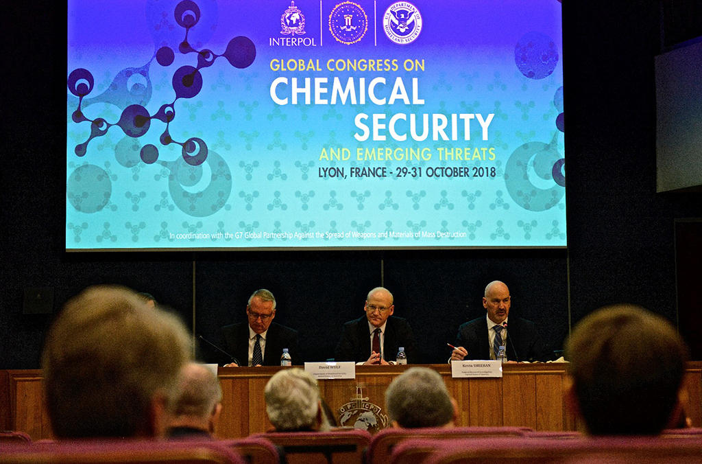 Bringing together some 200 delegates from nearly 40 countries, the Congress is part of efforts by INTERPOL's CBRNE programme to help address the global threat landscape through multi-agency collaboration.