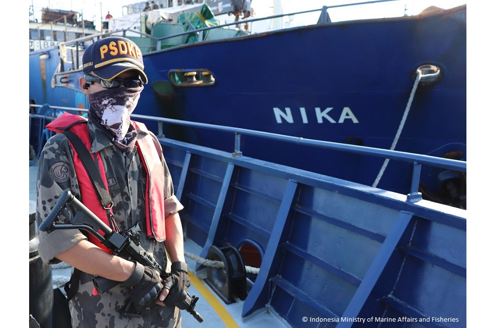 Indonesian authorities seized the MV NIKA, suspected of illegal fishing, with assistance from INTERPOL.