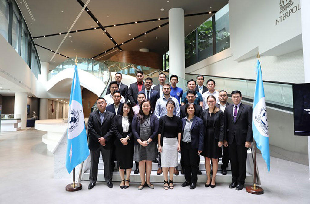 Participants at the two-day table-top exercise, held at INTERPOL's Global Complex for Innovation in Singapore in August 2018.