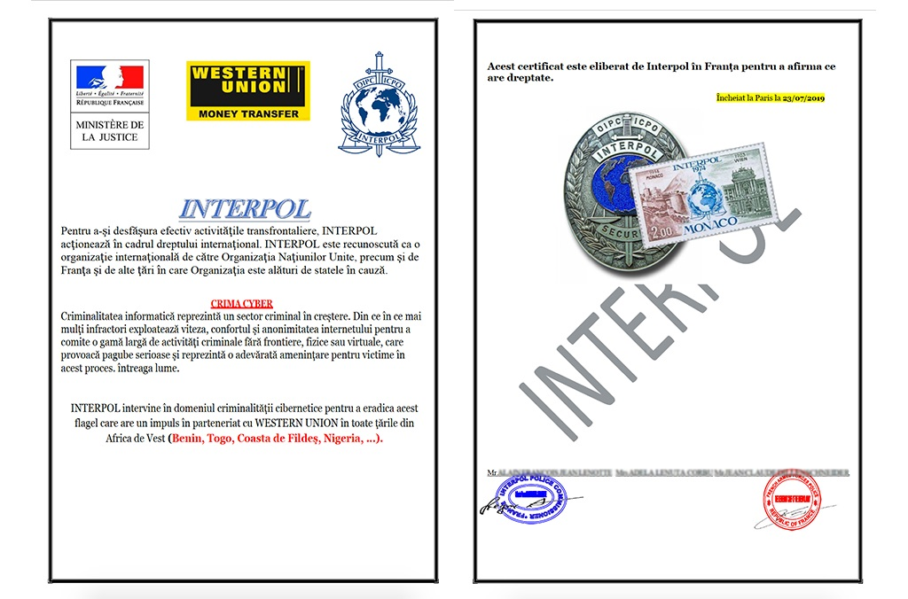 INTERPOL will never ask for your personal details or demand money from you. If you are given bank account details and requested to transfer money, do not reply and please report the message to us.
