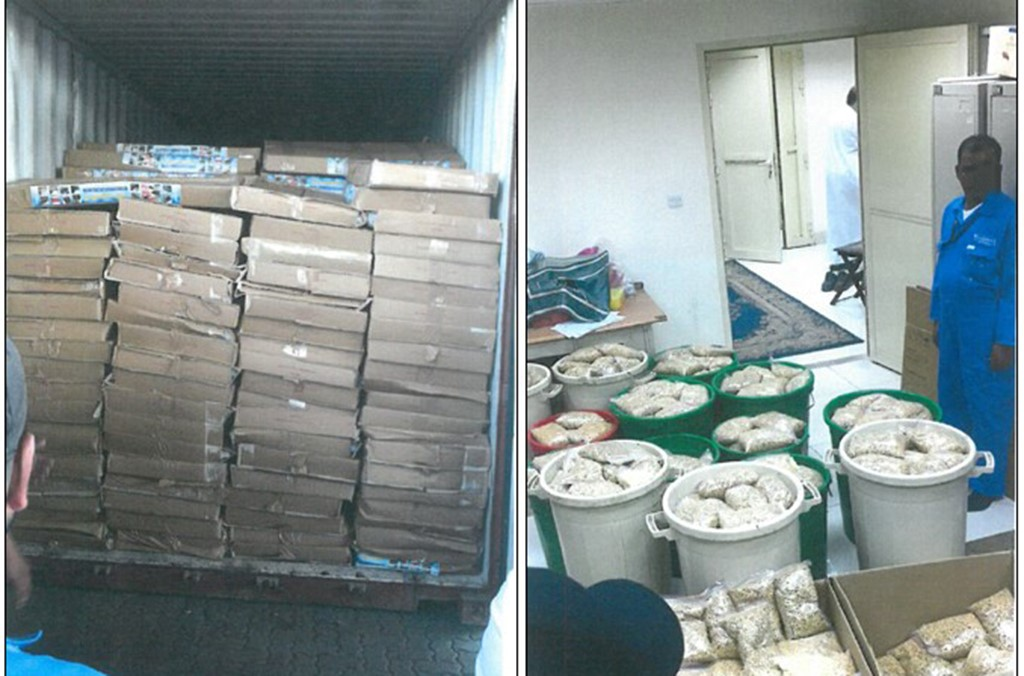 Kuwait: seizures made by national authorities as part of Operation Qanoon 2020.