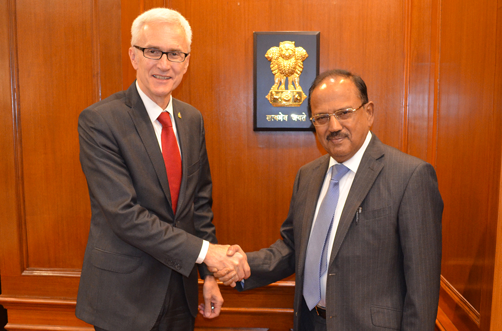 India's National Security Advisor, Ajit Doval met with Secretary General Stock during his mission to New Delhi.