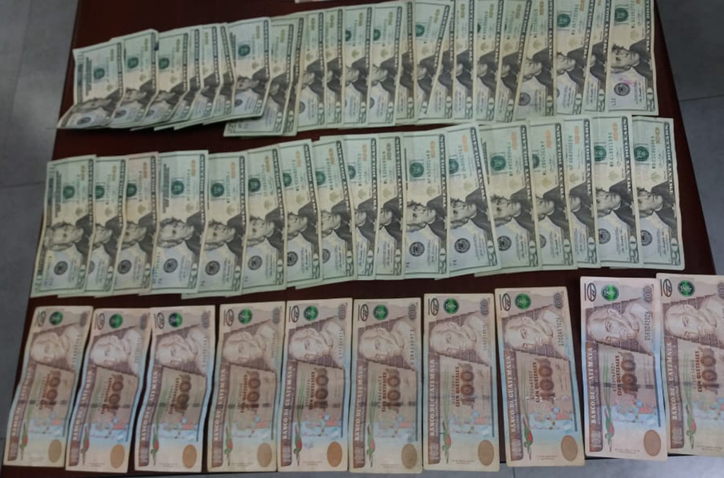 Cash seized in El Salvador