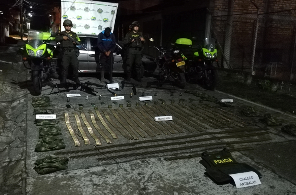 Operation Trigger V led to the seizure of 857 firearms, more than 38,000 bullets, 20 grenades and various police and military uniforms.