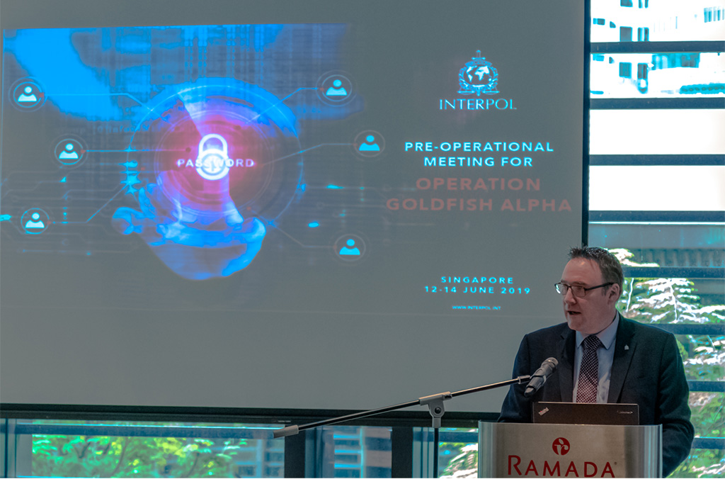 INTERPOL's Director of Cybercrime, Craig Jones highlighted the importance of collaboration between police and the private sector.