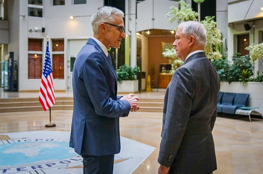 US Attorney General Jeff Sessions met with INTERPOL Secretary General Jürgen Stock  to discuss a range of global security issues, including terrorism.