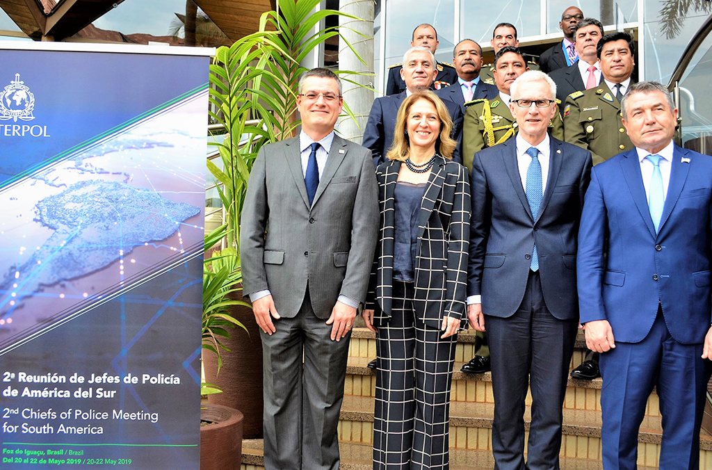 20-22 May 2019: INTERPOL's second Police Chiefs meeting for South America took place in the Argentina, Brazil and Paraguay tri-border town of Foz de Iguacu (Brazil).