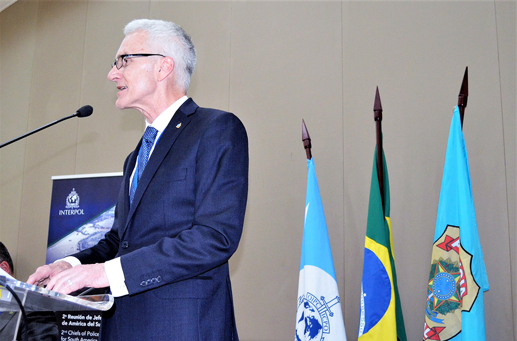 INTERPOL Secretary General Jürgen Stock underlines the importance of South America's Police leadership to regional and global security.