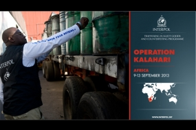 Illicit goods - Operation KALAHARI 2013