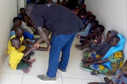 The children were aged between 11 and 16, with the youngest rescued at the land border between Benin and Nigeria.
