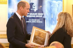The Duke of Cambridge attended INTERPOL's 29th Wildlife Crime Working Group, presenting awards for excellence on behalf of the Wildlife Crime Group Executive Board.