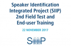 Speaker Identification Integrated Project (SIIP): Field test 2