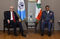 Secretary General Jürgen Stock discussed national and regional security issues with Major General Imad Osman, head of the Lebanese Internal Security Forces.